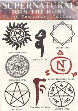 Supernatural (TV Series) Sheet Of 8 Different Temporary Tattoos