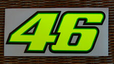 VALENTINO ROSSI 46 DECALS - 1 STICKERS YELLOW FLUORESCENT - BIG SIZE CM.20x8,3