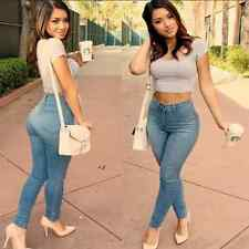 2016 Women Denim Skinny Pants Sexy High Waist Stretch Jeans Slim Pencil Trousers