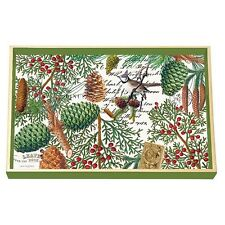 Michel Design Decoupage Rectangle Wooden Vanity Tray – Christmas Spruce WVTD257