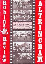Altrincham v darlington fa cup replay 14 dec 1983 très bon état