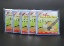5 Sets A303-SL (011-052) Stainless Steel Silver-Plated Acoustic Guitar Strings