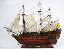 "SANTA ANA Tall Ship 36"" - Handmade Wooden Ship Model NEW"