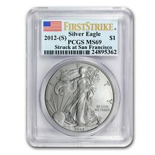 2012 (S) 1 oz American Silver Eagle Coin - MS-69 First Strike PCGS