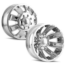 Front and Rear Set-Ion 166 Dually 16x6 8x170 Chrome Wheels Rims