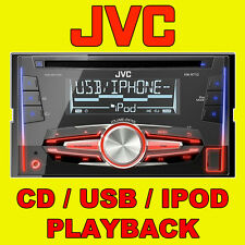JVC CAR/VAN CD/MP3, FRONT AUX INPUT, USB IPOD/IPHONE READY, DOUBLE DIN STEREO