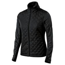 ASICS Thermo Windblocker Running Jacket Black Quilted Thumb Holes Zip $125 M EUC