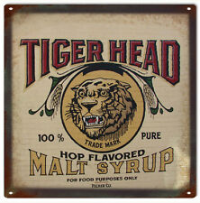 Tiger Head Pure Hop Malt Syrup Country Kitchen Advertisement Sign
