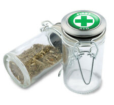 First Aid Wire Top Glass Jar w/ Air Tight Seal and Flip Top Lid