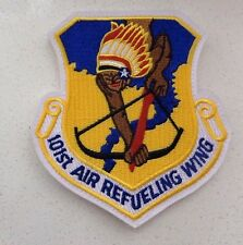 USAF PATCH, 101ST AIR REFUELING WING,WITH HOOK TAPE FASTNER