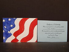 Original Painting - NOT a Reproduction, Rose Ann Hayes, Flag, Stars & Stripes