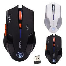 2.4GHz 2400DPI Wireless Mouse 6D Ricaricabile X3 6 Pulsanti Ottico Per giochi