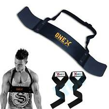Bicep Isolator Arms Blaster Bomber Fitness Training Weight Lifting Free Straps