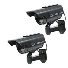 2 X Solar Power Fake Dummy Security CCTV Camera Waterproof IR Surveillance JQ