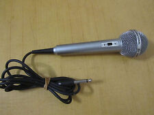 M950 Vintage Realistic Omnidirectional 600 Ohms Highball 2 Corded Mic Untested