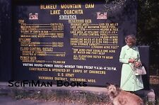 35mm Vintage Slide Arkansas Blakely Mountain Dam Lake Ouachita Sign Woman 1974!