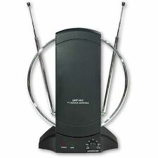 Antenna TV Amplificata da interno digitale terrestre UHF/VHF/FM/DVB