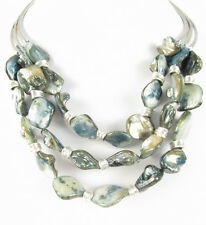Robert Lee Morris Soho Mother-Of-Pearl Multi-Row Layer Statement Necklace