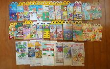 McDonald's Happy Meal boxes bags huge lot of 30 Different 1980s 1990s Vintage E