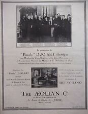 PUBLICITÉ 1925 THE AEOLIAN PIANOLA DUO-ART ÉLECTRIQUE - ADVERTISING