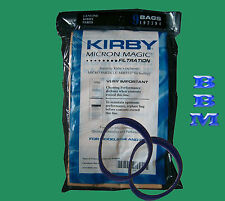 9 Kirby Vacuum 197394 Bags +2 Belts G3 G4 G5 Ulitmate G Diamond Sentria Twist on