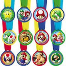 Super Mario Bros Party Award Medals 12ct -NEW!!