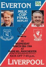 EVERTON v LIVERPOOL LEAGUE CUP FINAL REPLAY 1984