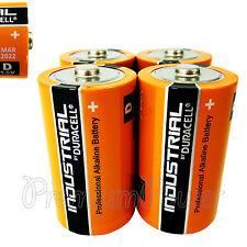 4 x Duracell D Size batteries Industrial Procell Alkaline LR20 MN1300 MONO 1.5V