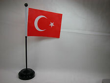 "4""x6"" Hand Held  or Table Top International Country Flag - Turkey"