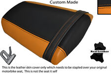 ORANGE & BLACK CUSTOM FITS HONDA CBR 600 RR 07-12 REAR LEATHER SEAT COVER ONLY