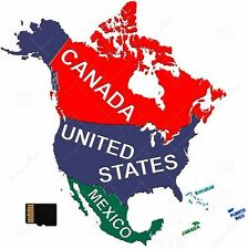 Map of Canada & North America NT 2017.30 for GARMIN nüvi GPS - MicroSD Card