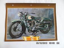 CARTE FICHE MOTO PEUGEOT P 135 S 1938