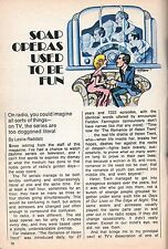TV GUIDE ARTICLE~SOAP OPERA'S~THE ROMANCE OF HELEN TRENT~EDGE OF NIGHT