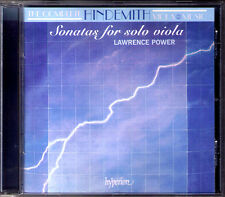 Lawrence POWER: HINDEMITH 4 Sonata for Solo Viola HYPERION CD Op.11/5 25/1 31/4