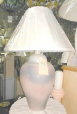 TABLE LAMP Rust Grey Silver Splatter Painted Ceramic CLEARANCE $249 MSRP NEW