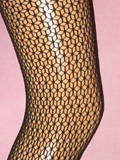 Black Geometric Net Fishnet Footless. Ladies size 8-14. NEW punk goth 80s