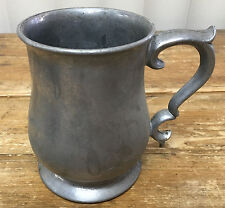 1 Tankard Mug Beer Crown Castle Made USA Metal Pewter C6S1 Alloy Queen Anne C651