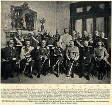 Abordnungen nichtpreuß.Rgmt.deren Chef Kaiser Wilhelm II ist * Bilddokument 1900