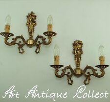 Antik Wandlampen Wandleuchten Messing Barock Stil Engel Putte Cherub Led Light