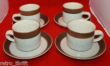 Ikea Karat By Denby  Stoneware 4 Coffee Tea Mug Cups Saucers Set Accenten AS-IS