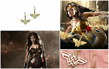 DC Comics Wonder Woman Logo Superhero Dangle Earrings W/Gift Box USA Seller