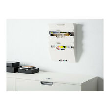 IKEA KVISSLE Metal Wall Newspaper Rack Book Magazine File Paper Holder in White