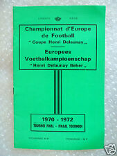 1972 European Championships Official Tournament Brochure; Henri Delaunay beker