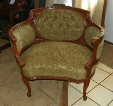 Carved Walnut French Armchair / Parlor Chair  (AC51)