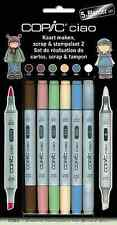 COPIC CIAO PENS - 5 + 1 SCRAP & STAMPING SET 2 - GRAPHIC ART MARKERS + BLENDER