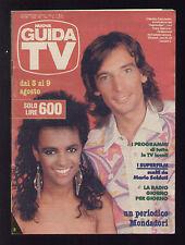 NUOVA GUIDA TV 31/1986 CLAUDIO CECCHETTO E TRACY SPENCER PROGRAMMI TV LOCALI
