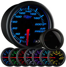 GlowShift Tinted 7 Color 200 PSI Air Pressure Gauge Air Suspension Air Ride