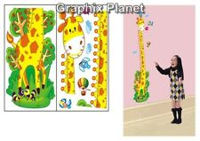 GIRAFFE KIDS GROWTH CHART HEIGHT MEASURE WALL STICKERS CHILDREN DECOR CARTOON PP