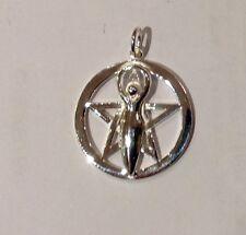 Lunar Goddes Pentagram Pendant  Sterling Silver  ,Celtic, Wicca ,Pagan,,Reiki