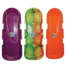"""(3)  EMSCO 48"""" 2 PERSON MONSTER SNOW TWIN POLY TOBOGGAN SLED SLEDS SNO 1140/123"""